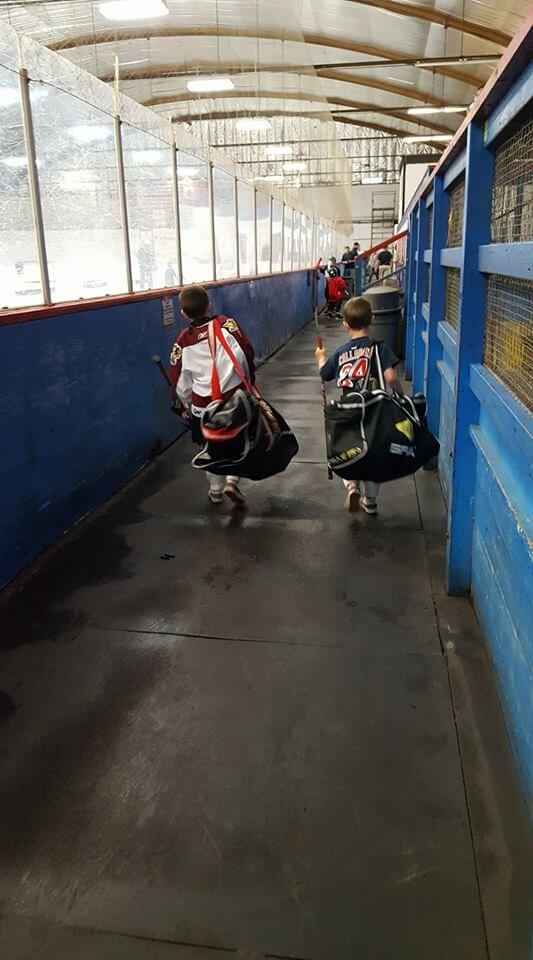 Another day at the rink for Duncan & Henrik Rutsch