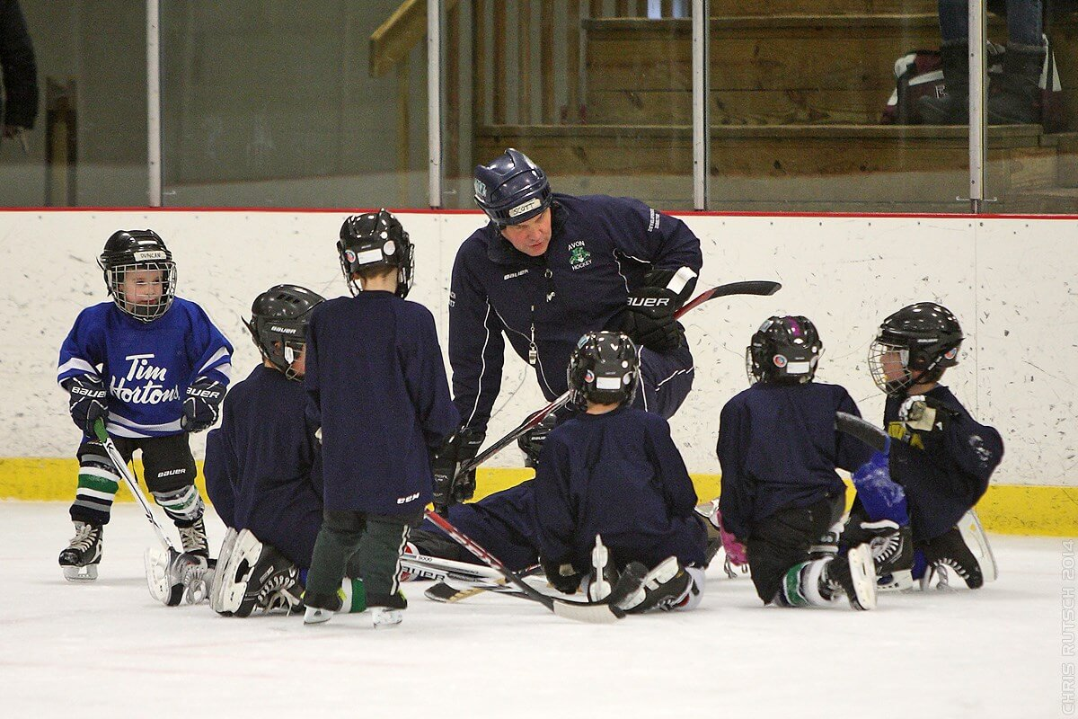 Four year old hockey players.